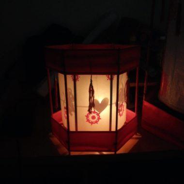 Đèn kéo quân handmade cao 30cm