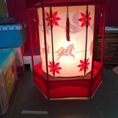 Đèn kéo quân Thái Hoàng cao 42cm